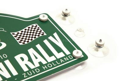 Rallyschild zuignapjes